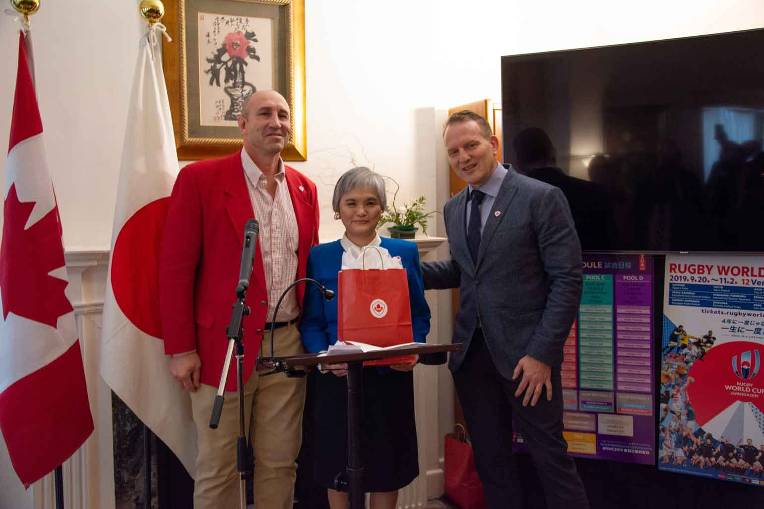 aa2178d84d8 Celebrating the Rugby World Cup 2019 in Japan at Consul-General Ms ...